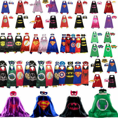 Superhero Cape (1 cape+1 mask) for kids birthday party favors and ideas XMASGIFT