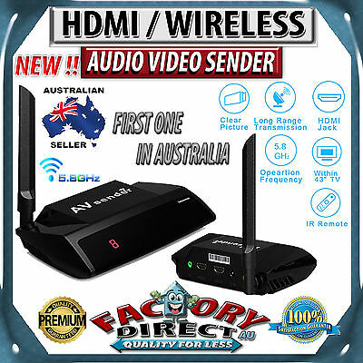FOXTEL AUSTAR Approved 5.8GHz HDMI WIRELESS Video Sender TV Wireless Transmitter