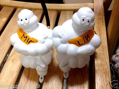 2X17Cm ASet.New Limited MICHELIN MAN Doll Figure Bibendum Tire+LED Light MIC+LIN