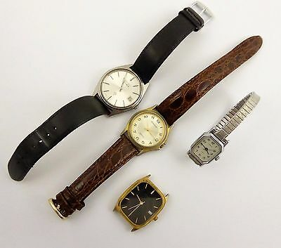 Collection of Vintage Quartz Wrist Watches for Parts LAYBY AVA
