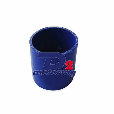 "2.75"" 70mm Silicone Straight Coupler Tube Blue Hose Kit Pipe Coupler"