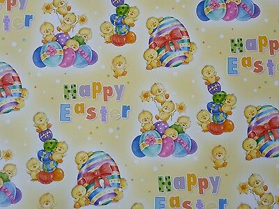 4 Sheets Of Good Quailty Thick Glossy Easter Wrapping Paper