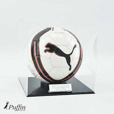 Football Display Case - Black Base - Wall Mounted