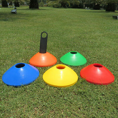 10pcs Football Rugby Sports Cross Space Marker Soccer Disc Cone Saucer Training