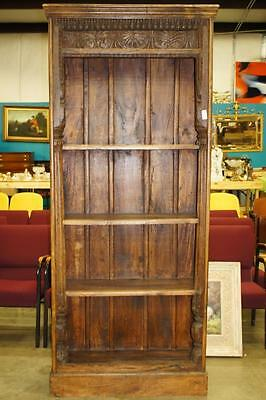 Tall Carved Bookcase Lot 7009
