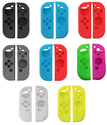 Silicone Rubber Skin Case Gel Cover Grip For Nintendo Switch Joy-Con USA!