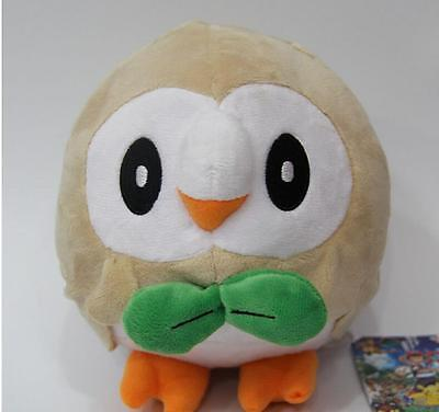 7''Pokémon Sun・Moon Rowlet Plush Toy Doll Soft Stuffed Kids Gift