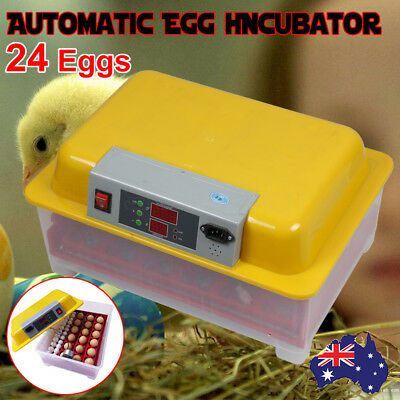 New Automatic 24 Egg Incubator Fully Digital Chicken Duck Quail Eggs Poultry