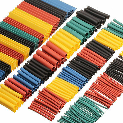 260x Heat Shrink Tube Wire Wrap Sleeve Car Electrical Cable Insulation 8 Sizes