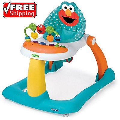 Sesame Street Elmo 2-In-1 Activity Sit-To-Stand Baby Walker Infant Toddler Toy