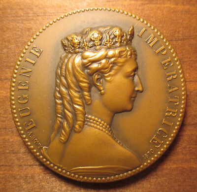 1870 Empress Eugenie Bronze Medal by Bovy (France, 51mm, Restrike?)