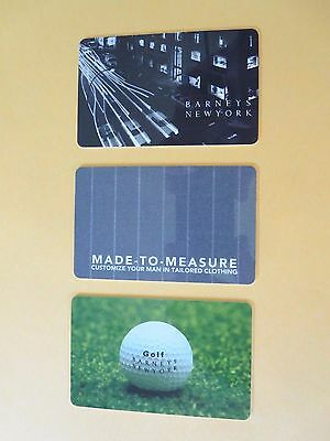 LOT OF 3 LEGACY BARNEY's NEW YORK Collectible GIFT CARDS - NO CASH VALUE