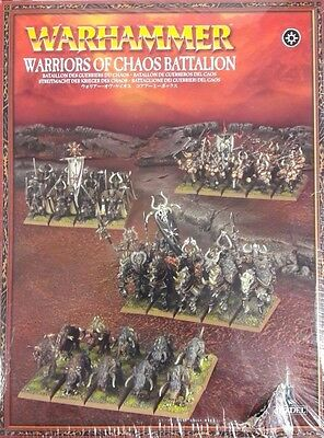 Warhammer Warriors of Chaos Battalion 83-10 FACTORY SEALED Games Workshop OOP