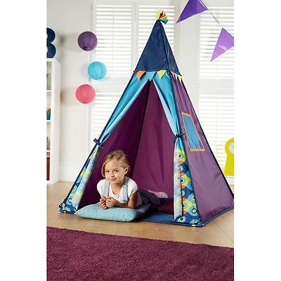 Magical Teepee Play Tent with Lights Indoor Play Kids Purple Girls Design New