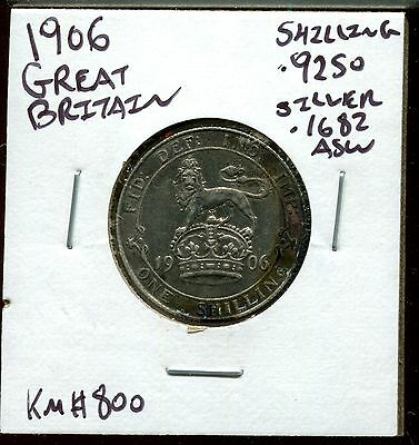 Great Britain Shilling, 1906 KM#800 Better Date Coin