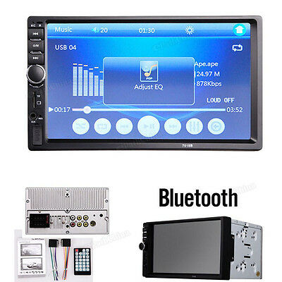 7'' HD 2 DIN In-Dash Bluetooth Car Stereo MP3 Player FM Radio TouchScreen Aux-in