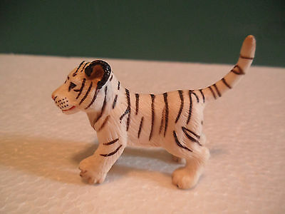 Schleich Striped White and Black Bengal Tiger Cub Figure USED