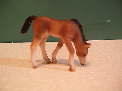 Schleich Foal Dark Brown and White Horse Figure USED