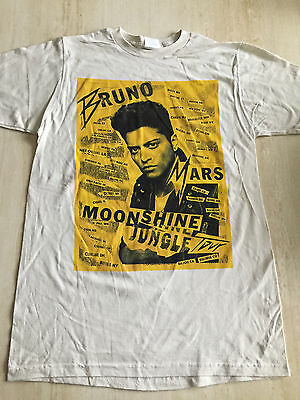 03179099fd36b Bruno Mars Moonshine Jungle Tour Concert T-Shirt Size Medium New Without  Tags