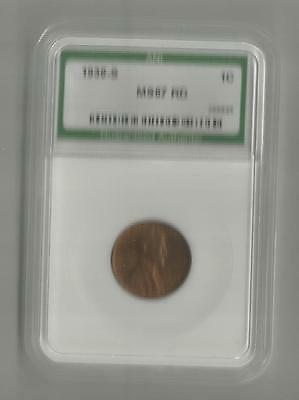 ☆GORGEOUS☆~ MS-67RD 1936-S Lincoln Wheat Cent Penny ANI HIGH GRADE