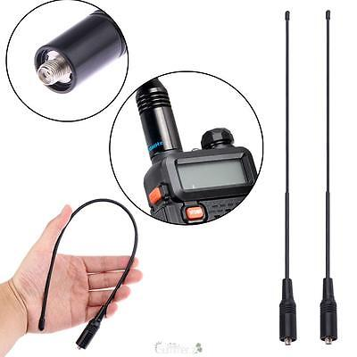 2Pcs NA-771 Dual SMA-Female Radio bend Antenna for Baofeng UV-5R Walkie Talkie