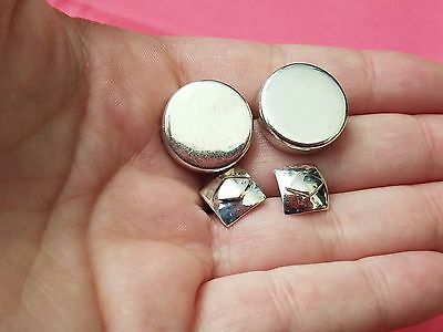 Lot of Vintage Sterling Silver Earrings, Art Deco Studs, Mexico, Estate Jewelry
