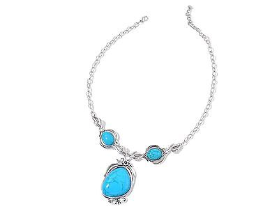 Blue Howlite Earrings and Necklace