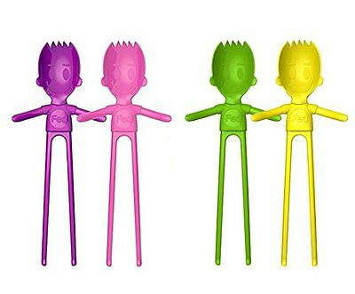 Fun Eating Devices - Sporkstix, Part Spork and Part Chopsticks - (4 Pack, Pink,