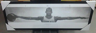 Michael Jordan Wings New Wood Framed Poster Print21X62 Huge High Quality(Rare)