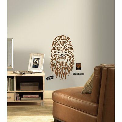 RoomMates Star Wars Typographic Chewbacca Peel and Stick Giant Wall Decals