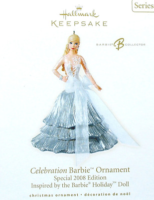 2008 Hallmark Celebration Barbie Keepsake Ornament Holiday Series - NIB