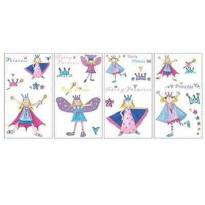 RoomMates RMK1015SCS Fairy Princess Peel and Stick Wall Decals