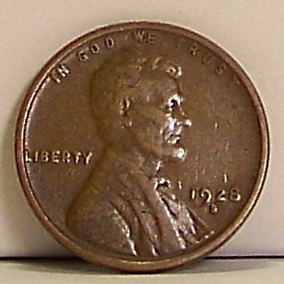 LOW RESERVE!:  Better Date 1928-S Lincoln Wheat Cent in VF-EF Condition (Coin 1)
