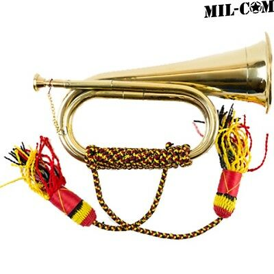 Mil-Com Military Brass Bugle British Army Royal Artillery Band Horn Instrument