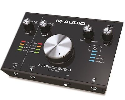 M-Audio M-Track 2x2M 2-In/2-Out 24/192 USB Audio/MIDI Interface