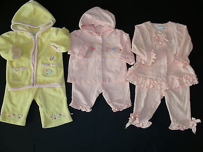 USED BABY GIRL Size 0-3-6 Months OUTFITS Spring Summer Clothes LOT 6pc