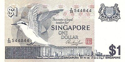 Singapore Government Note 1 Dollar Pick:#9 ~Nd~ (1976) Crisp Unc.