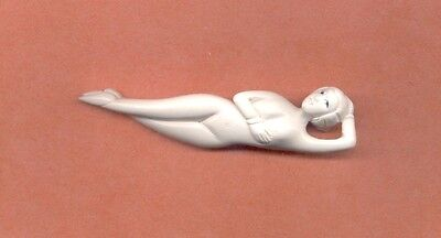 Vintage Chinese Doctors Lady Doll Asian Figurine Signed statue netsuke  Stand
