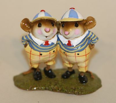 SIGNED Wee Forest Folk Alice in Wonderland Tweedle Dee & Dum AIW-05 Ltd Ed Box