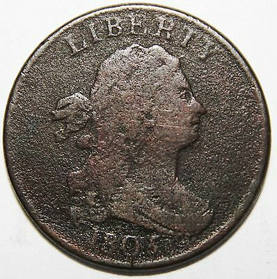 1805 Draped Bust Half Cent 1/2 Coin Lot # MZ 4184
