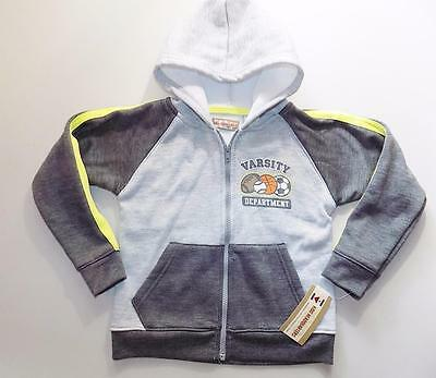 Kids Headquarters Boys Gray Hoodie Jacket Polyester NWT Size 5