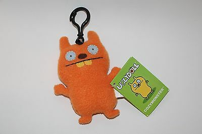 Gund UGLY DOLL KEYCHAIN COZYMONSTER ORANGE NEW WITH TAGS clip on PLUSH KEYCHAIN