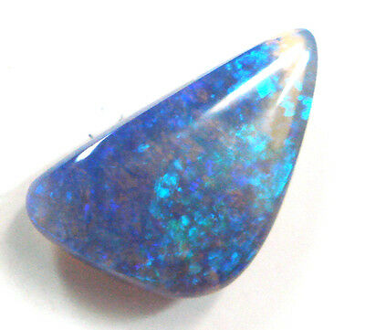 C3 Natural Loose Stone Australian Solid Black Opal Stone For Pendant & Ring
