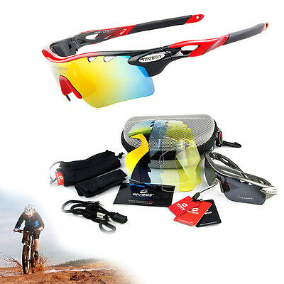 Outdoor Sport Cycling Bicycle Riding 5 Lens Sunglasses Eyewear Goggle UV400