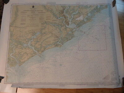 Noaa Navigation Chart #11521 For Charleston Harbor and Approaches
