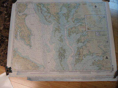 Noaa Navigation Chart #12230 For Chesapeake Bay Smith Point to Cove Point