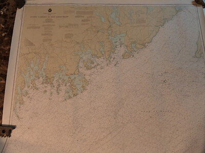 Noaa Navigation Chart #13325 For Quoddy Narrows to Petit Manan Island