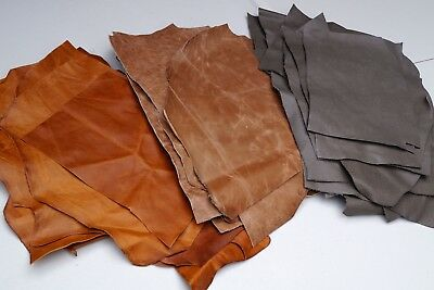 Cowhide leather Craft panels/pieces 27.5 x 20 cm Sets of 3
