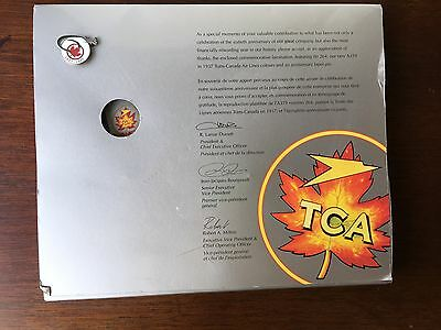 Vintage Air Canada /TCA 60th anniversary presentation pin/plaque/box (789)