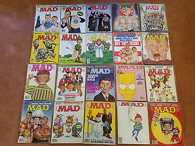 Lot of 20 Mad Magazines From The Early 1990's In average Very Good Condition